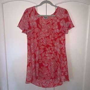 Show Me Your Mumu Kylie Mini Dress in Red Paisley